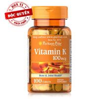 Viên uống đẹp da hỗ trợ đông máu Puritan's Pride Vitamin K 100mcg 100 viên