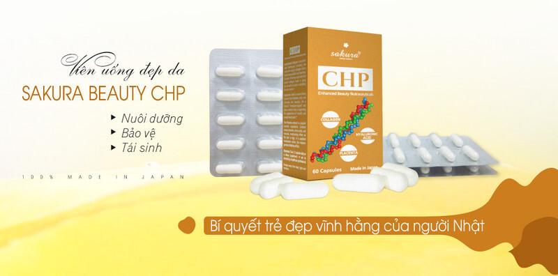 Viên Uống Đẹp Da Sakura CHP Enhanced Beauty Nutraceuticals 60 Viên