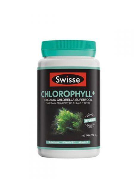 Viên uống diệp lục Swisse Chlorophyll+ 100 Tablets