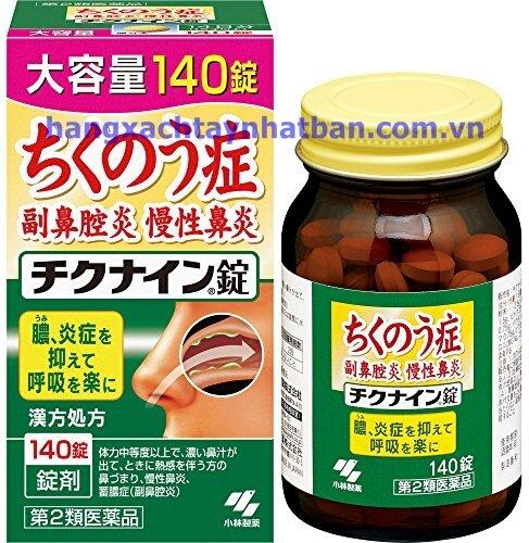 Viên uống điều trị viêm xoang mãn tính Chikunain của Nhật Bản 224 viên
