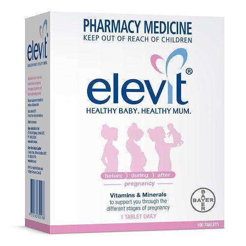 Viên uống Elevit Healthy baby – Healthy mum hộp 100 viên