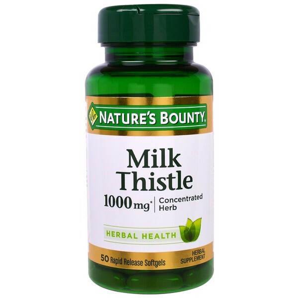 Viên uống giải độc gan Nature's Bounty Milk Thistle 1000mg