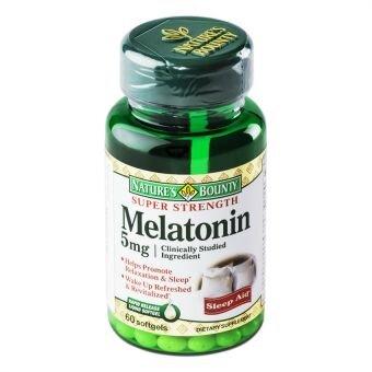 Viên uống giúp ngủ ngon  Nature's Bounty Super Strength Melatonin 5mg x 60viên