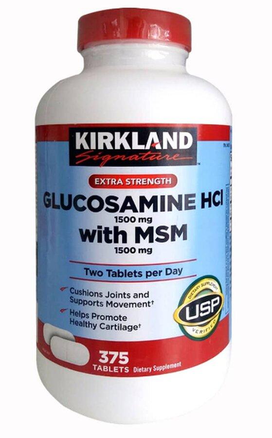 Viên uống Kirkland Glucosamine HCl - 375 viên. 1500mg