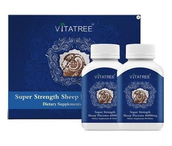 Viên uống nhau thai cừu Úc Vitatree Super Strength Sheep Placenta 60.000mg