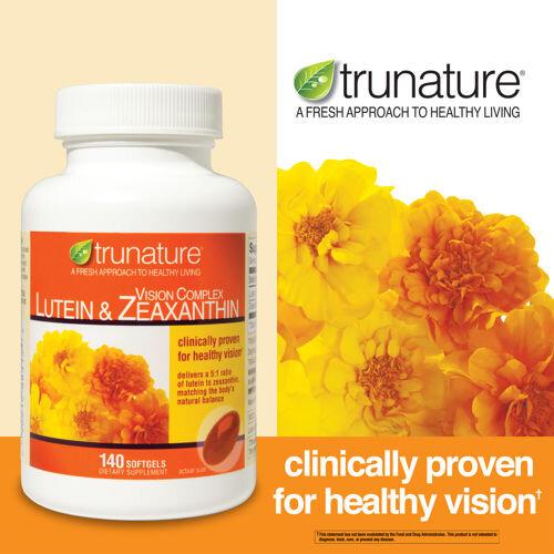 Viên uống sáng mắt Trunature Vision Complex Lutein & Zeaxanthin 140 viên