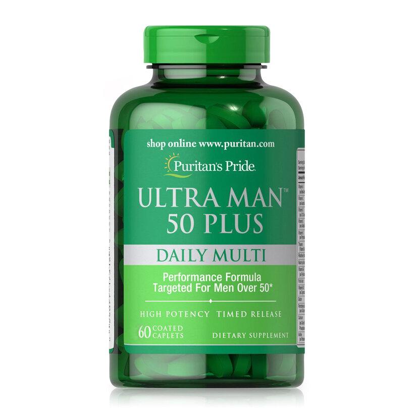 Viên uống tăng cường sức khỏe cho nam giới Ultra Man 50 Plus Daily Multi 60 viên