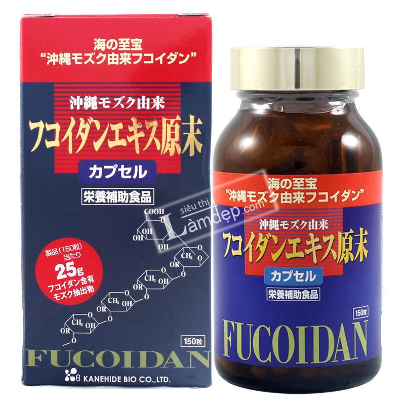 Viên uống tảo đỏ Okinawa Fucoidan Kanehide Bio – 150 viên