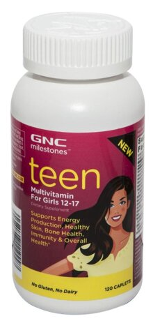 Viên uống Teen Multivitamin For Girls 12-17 GNC milestones 120 viên