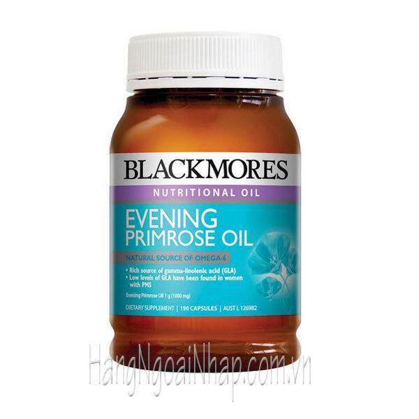 Viên uống tinh dầu hoa anh thảo Blackmores Evening Primrose oil 190 viên của Úc