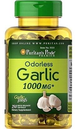 Viên uống tinh dầu tỏi Puritan Pride's Garlic Oil 1000mg – 250v