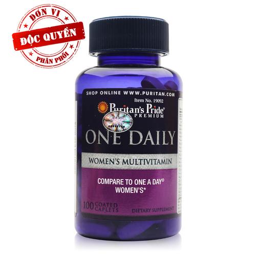 Viên uống Vitamin tổng hợp cho phụ nữ Puritan's Pride One Daily Women's Multivitamin 100 viên