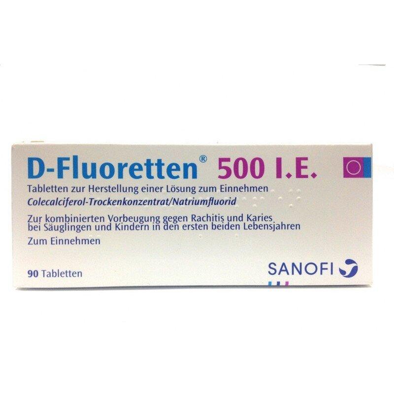 Vitamin D- Flouretten 500 I.E