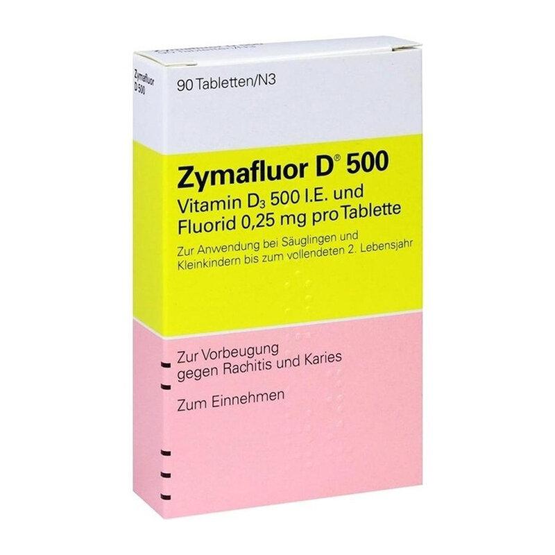 Vitamin D Zymafluor D500 90 viên