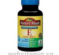 Vitamin E 400 iu Nature Made 180 viên