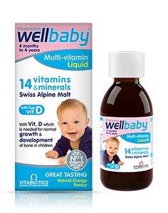Vitamin tổng hợp Wellbaby 14 vitamin 150ml dành cho bé từ 4 tháng tuổi