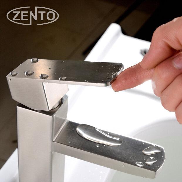 Vòi chậu lavabo nóng lạnh inox 304 Zento SUS3324