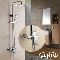 Vòi hoa sen cây tắm nóng lạnh cao cấp Zento ZT8006
