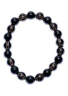 Vòng tay đá Obsidian Mix thạch anh khói VD17053
