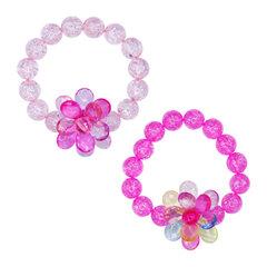 Vòng tay hoa pha lê Pink Poppy BCF-405