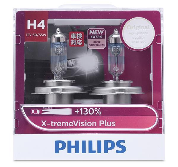 Bóng đèn halogen tăng sáng Philip H4 12342XVP