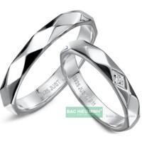 Nhẫn đôi Bạc Hiểu Minh NC059 - Tình yêu