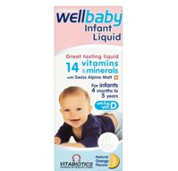 WellBaby Infant Liquid 150ml 4M+ Anh (Vitamin, Thuốc Bổ Tổng Hợp Vitabiotics)