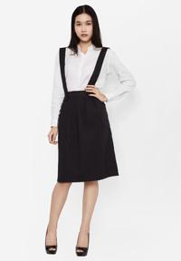 Chân váy hai dây đeo rời thời trang Labella SK25