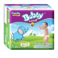 Tã quần Bobby Fresh L20 - 20 miếng (dành cho trẻ từ 9-13kg)