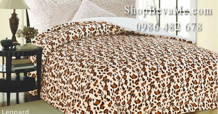 Chăn lông cừu đại hàn 2,2x2,4m (mẫu da báo)