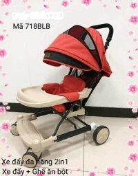Xe 3 chức năng làm xe tập đi, ghế ăn dặm và xe đẩy cho bé BLB718