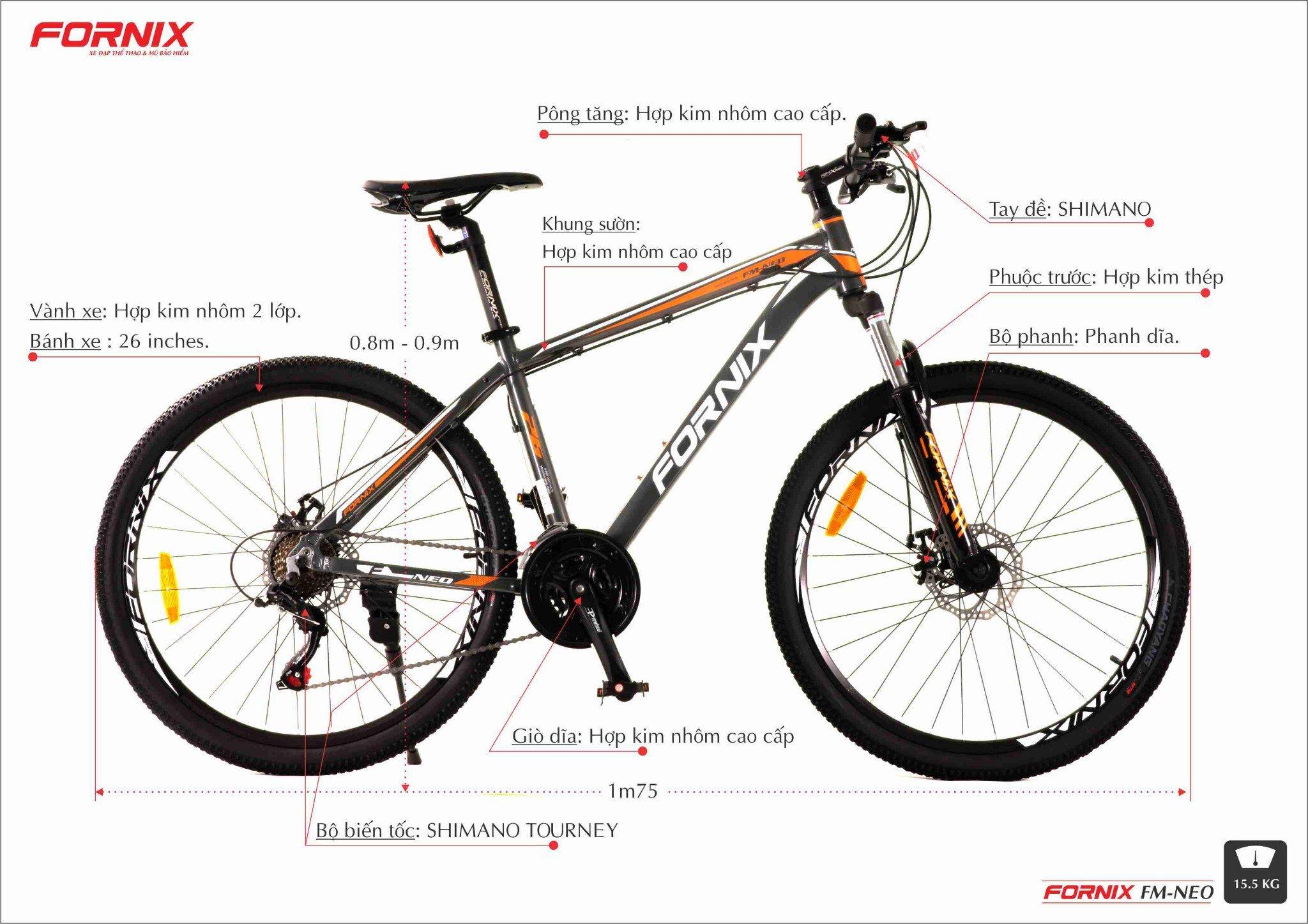 Xe đạp địa hình Fornix FM-Neo