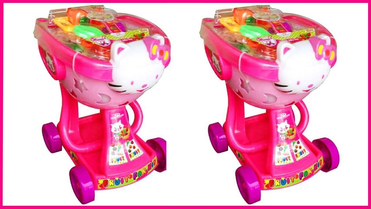 Xe đẩy siêu thị mèo Hello Kitty