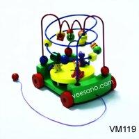 Xe kéo luồn hạt bàn quay Veesano VM119