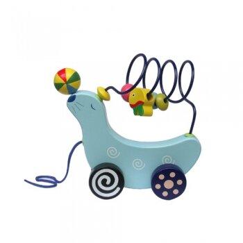 Xe kéo luồn hạt hải cẩu tung hứng Hongji Toys HJD93030A (93030A)