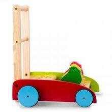 Xe tập đi bằng gỗ 3 con gà Etic C410B3 (C410B3/ CCL4)