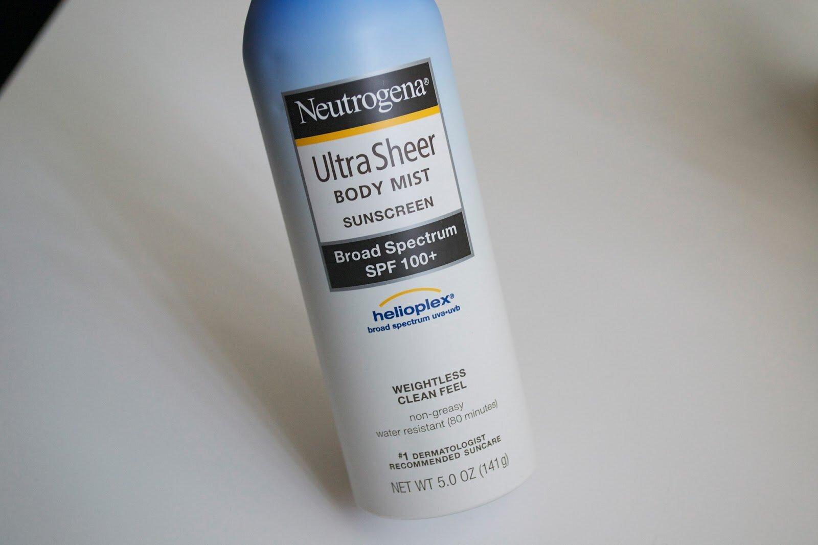Xịt chống nắng Neutrogena Ultra Sheer Body Mist Sunscreen Boad Spectrum SPF 100+ 141g