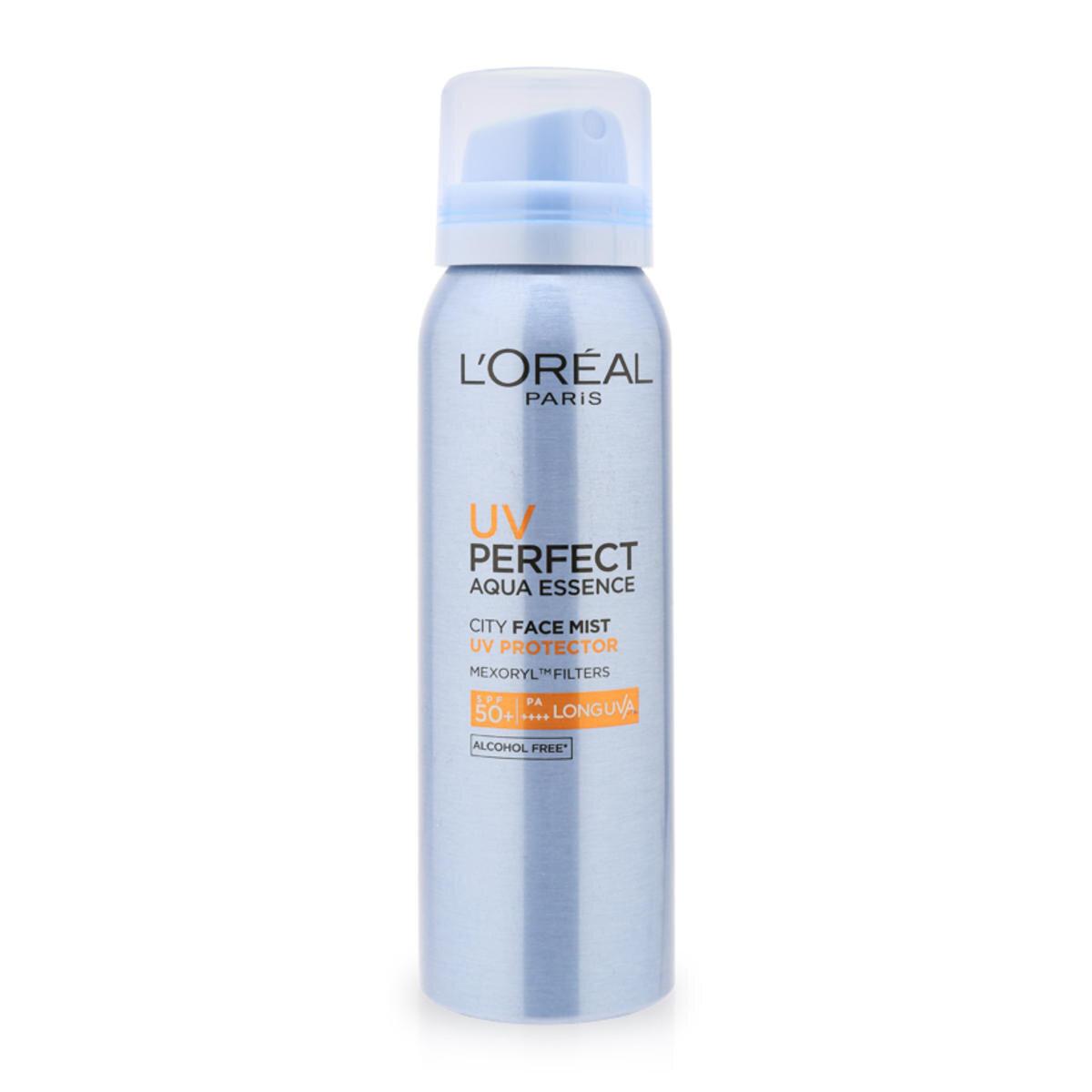 Xịt chống nắng tăng cường bảo vệ da L'Oreal UV Perfect Aqua Essence City Face Mist SPF50+/PA++++ 64g