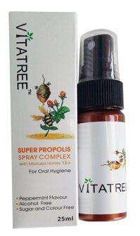 Xịt keo ong Vitatree trị viêm họng 25ml