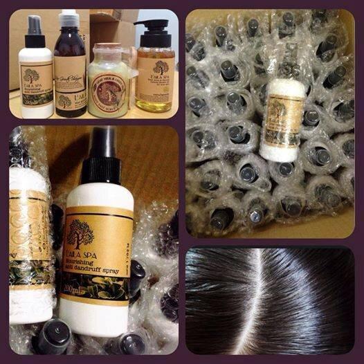 Xịt trị gàu chống rụng tóc L'aila Spa Nourishing Anti Dandruff Spray 200ml