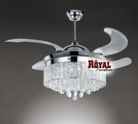 Quạt trần đèn chùm Royal CF- 3300