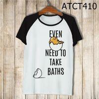 Áo thun tay màu Gudetama cần đi tắm ATCT410