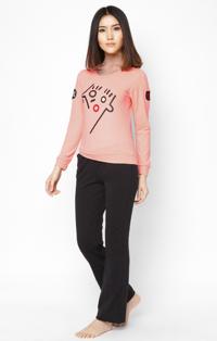 Combo 2 bộ quần áo phối ren cho mẹ và bé gái màu cam Thivi CP-DB16010501-02