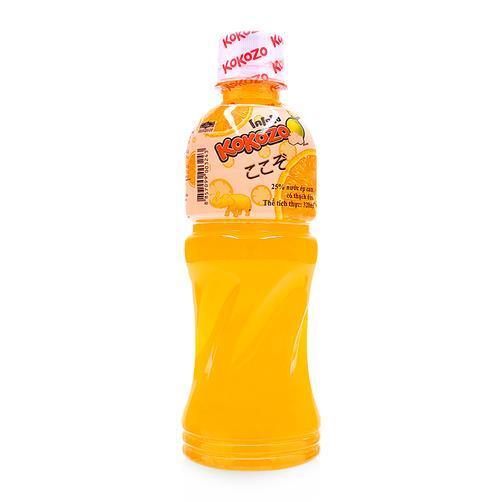 Nước ép cam có thạch dừa Kokozo chai 320ml