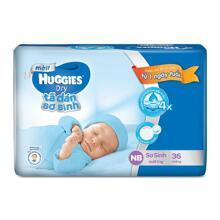 Tả dán sơ sinh Huggies NB36 (Cho bé dưới 5kg) - Gói 36 miếng