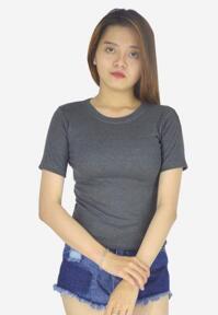Áo thun len nữ form trơn trẻ trung Evest 349