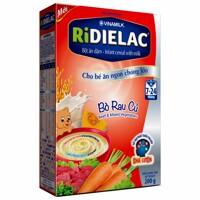 Bột ăn dặm RiDielac Lươn Cà Rốt Đậu Xanh - Hộp giấy 200g