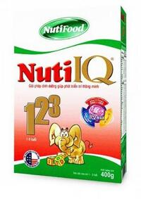 Sữa bột Nutifood Nuti IQ 123 - hộp 400g (dành cho trẻ từ 1 - 3 tuổi)