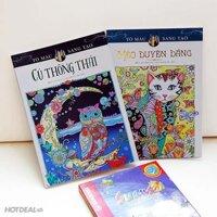 Combo Sách Tô Màu: Mèo Duyên Dáng + Cú Thông Thái + Chì Màu Stabilo Swans CL1869-24
