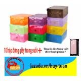 Combo 7 hộp đựng giày trong suốt